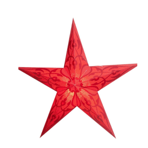 STAR LANTERN DAMASKUS RED