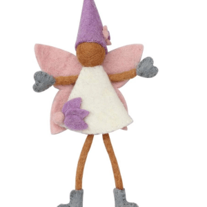 FELT TOOTH FAIRY DOLL W/PURPLE HAT