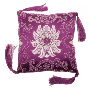 BOWL CUSHION PURPLE BROCADE