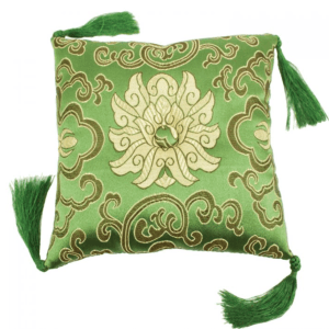 BOWL CUSHION GREEN BROCADE