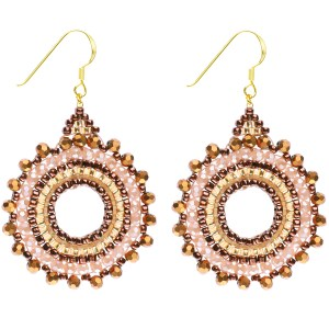 Beaded Starburst Earrings – Rose Gold