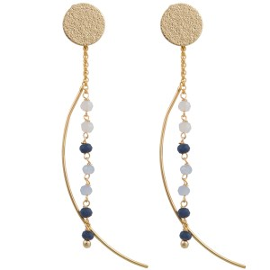Moon Drop Earrings – Blue