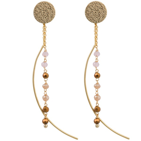 Moon Drop Earrings – Pink