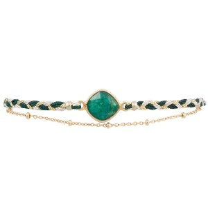 Braided Silk Bracelet – Green