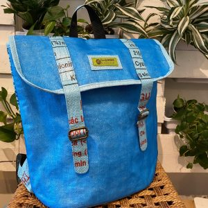 FISH NET BACKPACK IN BLUE