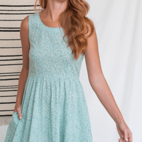 MINT GREEN COTTON DRESS