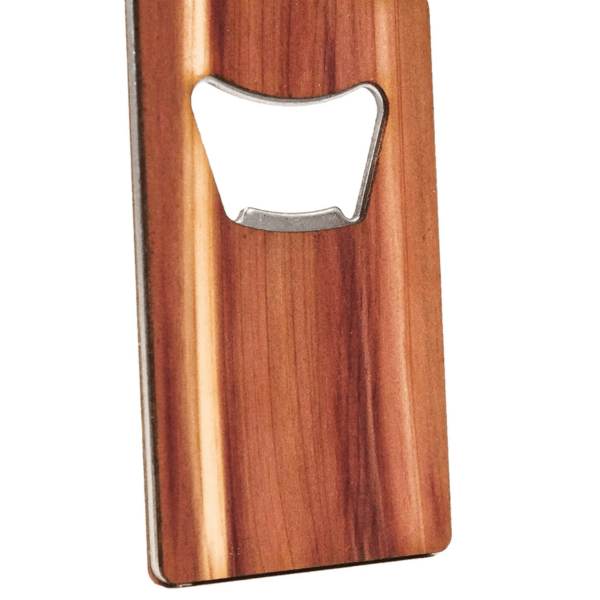 WOOD BOTTLE OPENER CREDIT CARD SIZE PLAIN