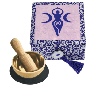 MINI SINGING BOWL WITH BOX – GODDESS