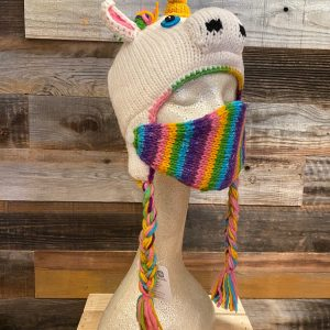 UNICORN HAT WITH FACE MASK