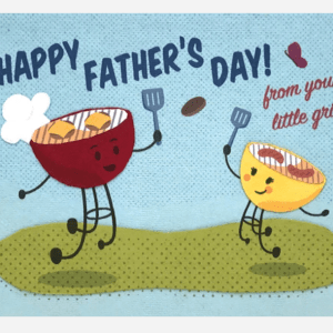 LITTLE GRILL FATHER'S DAY CARD
