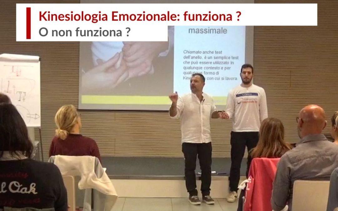 Kinesiologia emozionale funziona ? O non funziona ?