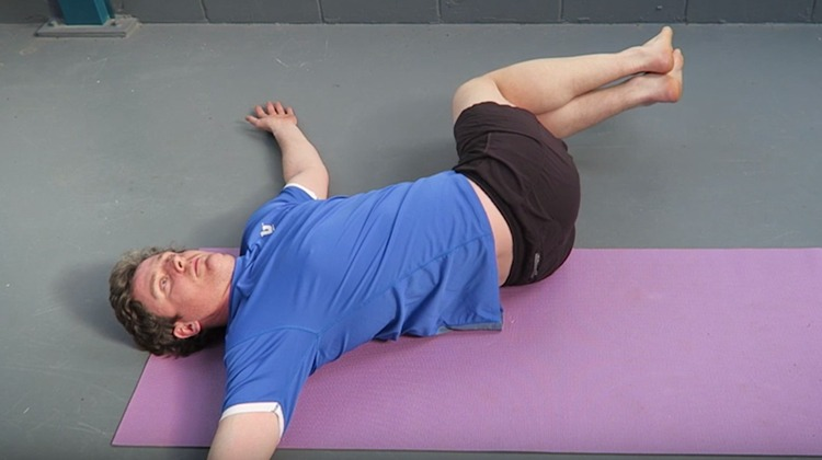 knee dropsknee hugs for low back stiffness after running