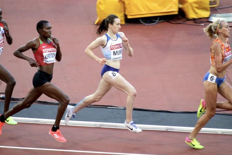 Laura Muir competing at London 2017