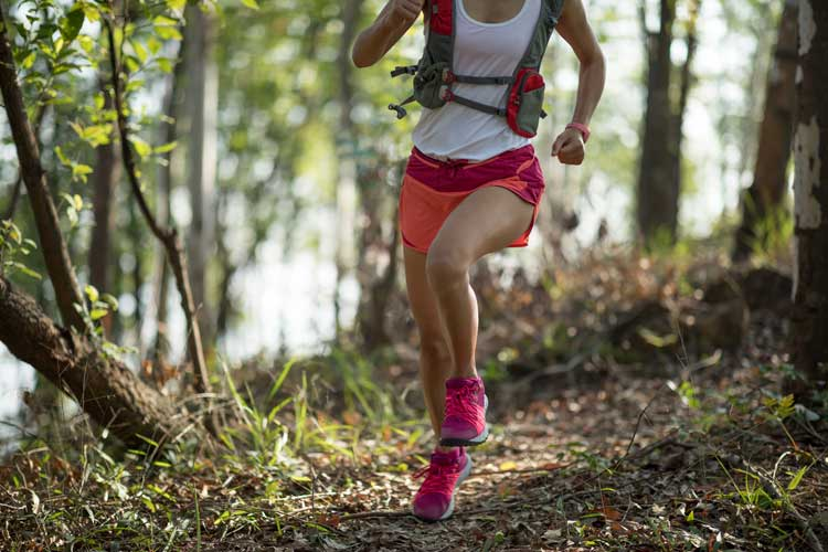trail running to prevent knee pain