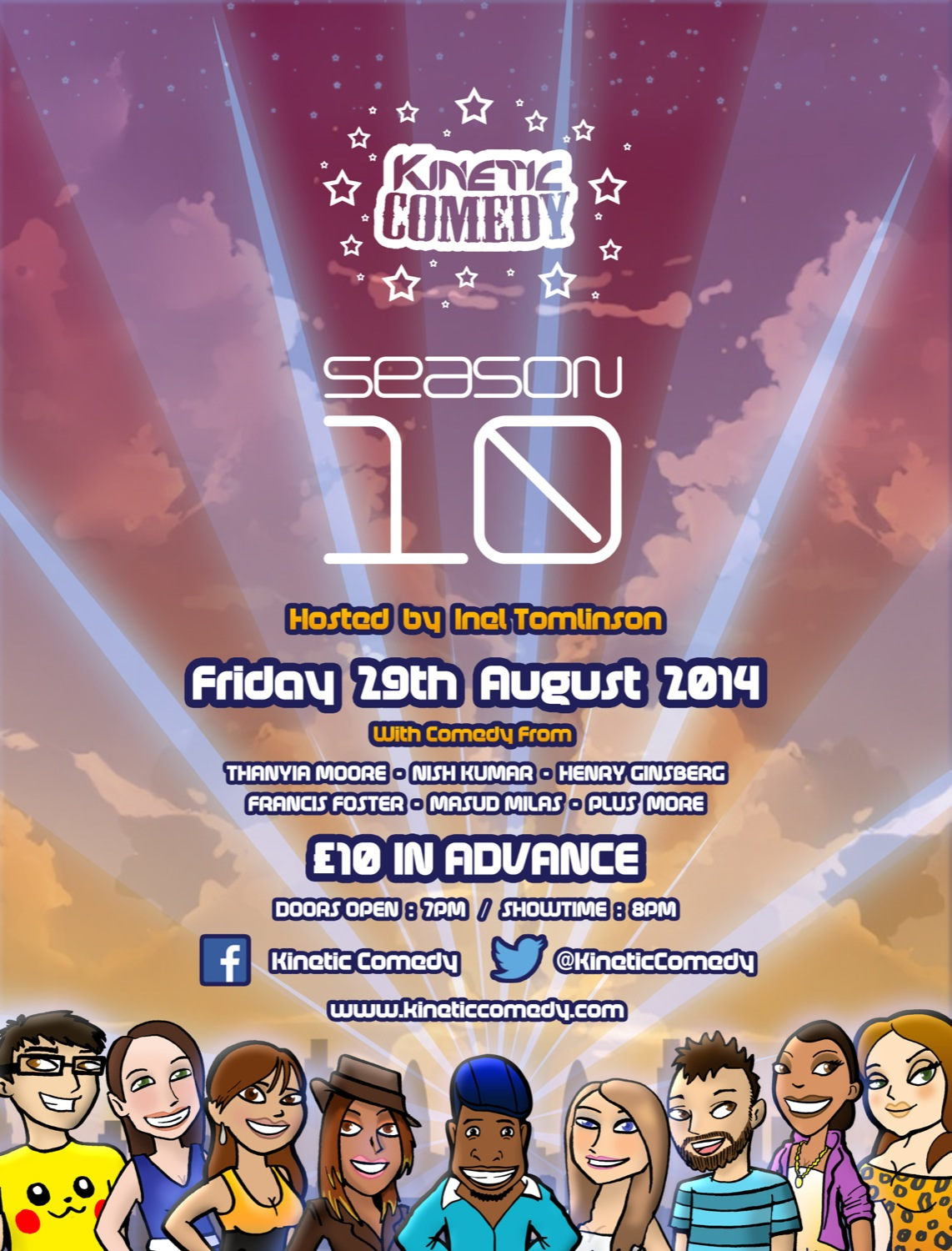 Kinetic Comedy 10.2 – Friday 29th August 2014