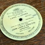 ools from Lang Lathes. Lang's of Johnstone were founded in 1873, and lasted until 1979.