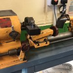 Rollo Elf lathe. Made in the Highlands of Scotland, this lathe used a Sturmey Archer hub.