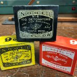 Detonator tins from Nobel's Explosives, Glasgow.