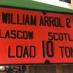 A large and very, very heavy plate from a crane made by Sir William Arrol & Co Ltd.