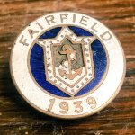 A War Service badge from the Fairfield shipyard - now BAE Systems Govan.