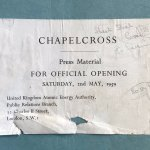 Press pack for the opening of Chapelcross nuclear power station.