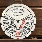 Ship's telegraph face made by Mechans Ltd. of Scotstoun.