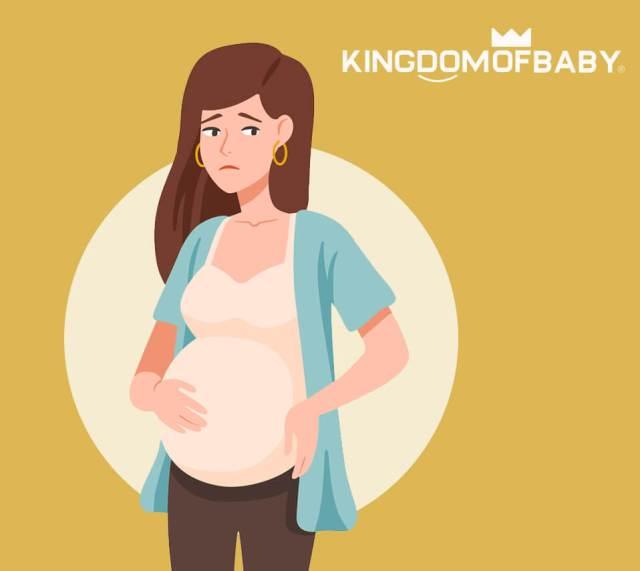 sad pregnant woman