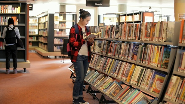 图书馆,读书