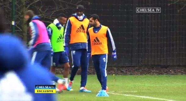 Mohamed Salah Chelsea training