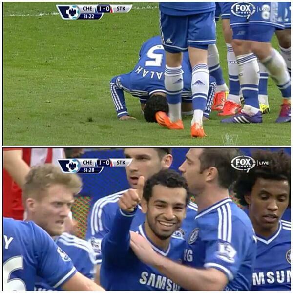 Salah goal vs Stoke