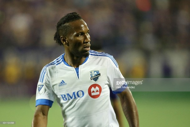 Didier Drogba #11 of Montreal Impact is seen during an MLS soccer match between the Montreal Impact and the Orlando City SC at the Orlando Citrus Bowl on October 3, 2015 in Orlando, Florida. Orlando won the match 2-1.