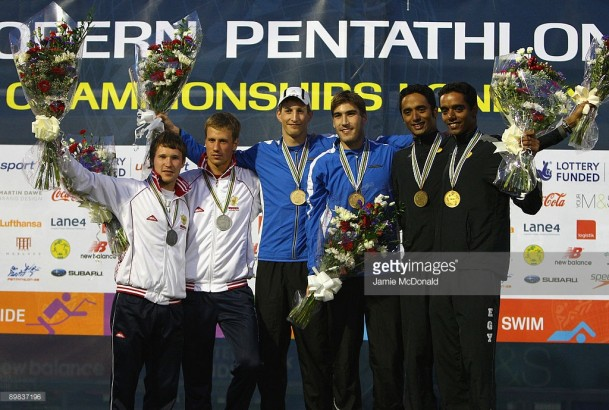 During the Men's Relay event during the 2009 Modern Pentathlon World Championships at Crystal Palace National Stadium on August 17, 2009 in London, England.