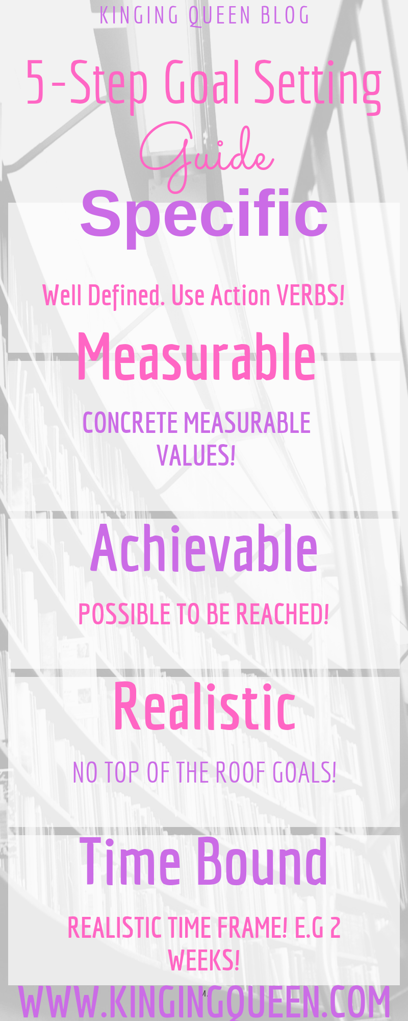 Infographic for setting SMART Goals on how to set goals and achieve them