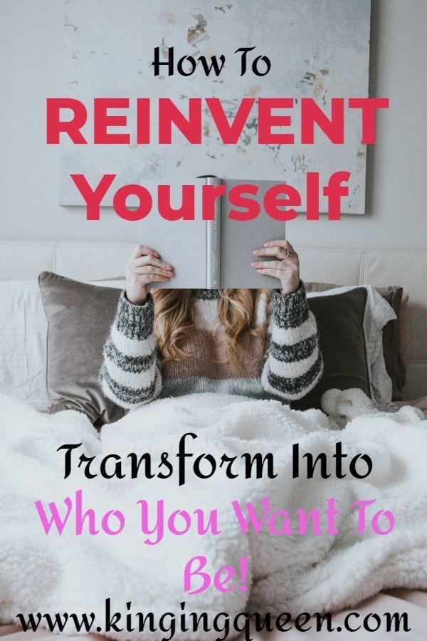 graphic showing How To Reinvent Yourself