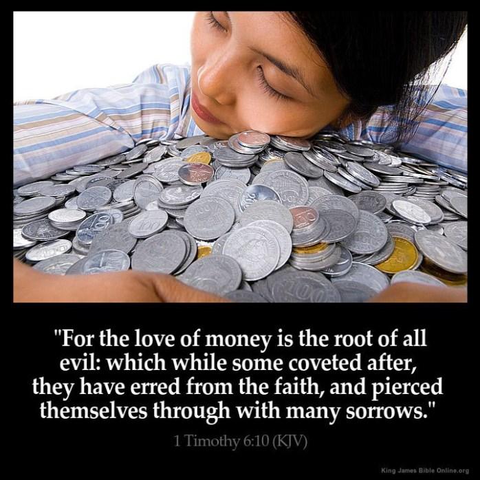 1 Timothy 6:10 Inspirational Image