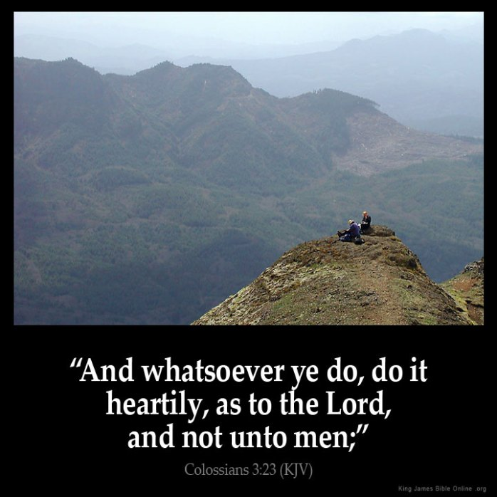 Colossians 3:23 Inspirational Image