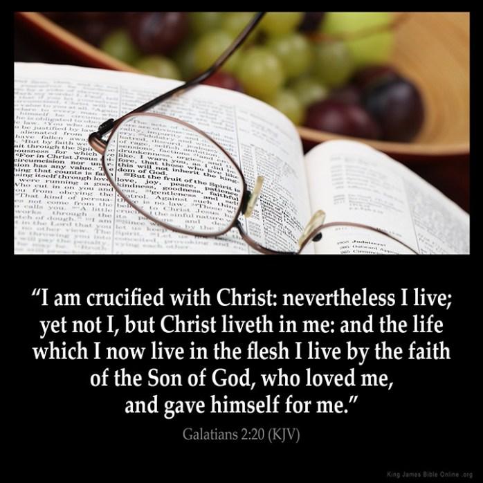 Galatians 2:20 Inspirational Image