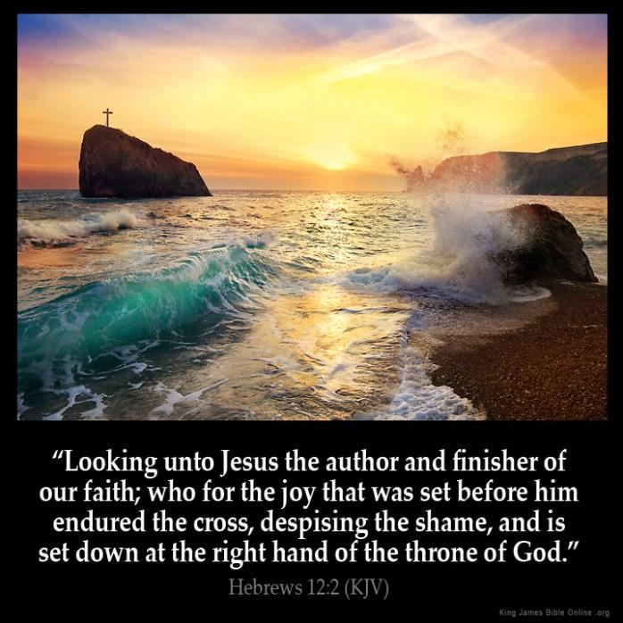 Hebrews 12:2 Inspirational Image