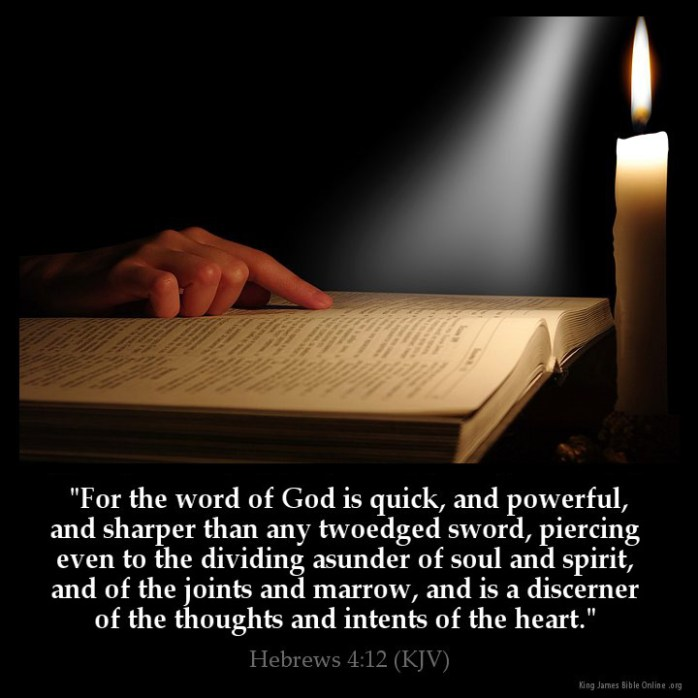 Hebrews 4:12 Inspirational Image