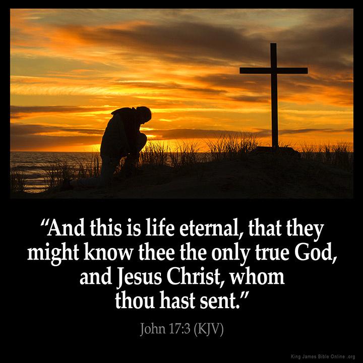 John 17:3 Inspirational Image