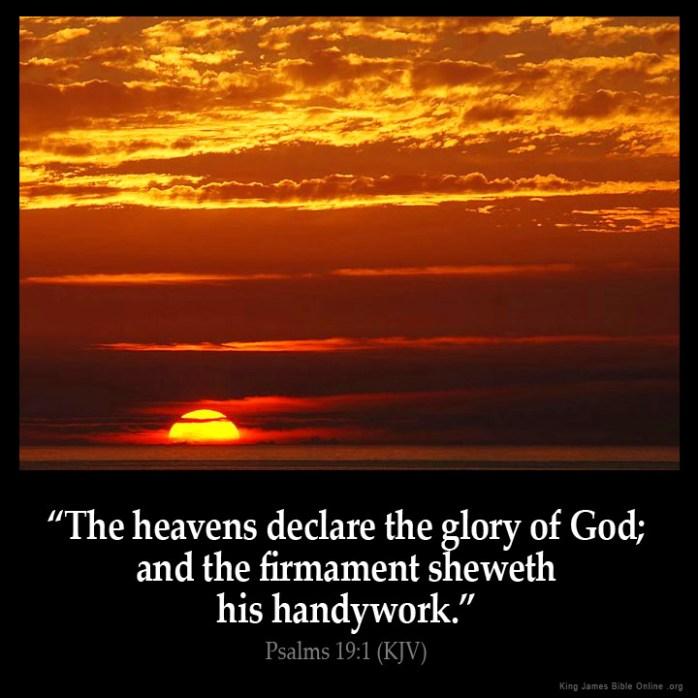 Psalms 19:1 Inspirational Image