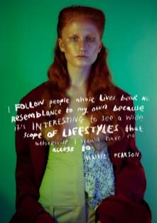 Trousers - Nhorm | Jacket - Marta Jakubowski | Chains - Cottweiler | Custom leather - Roberta Sian Graham | Shoes - Model's own