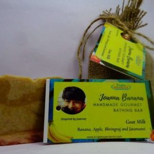 Joanna Banana – Goat Milk, Banana, Apple, Bhringraj and Jatamansi Bathing Bar