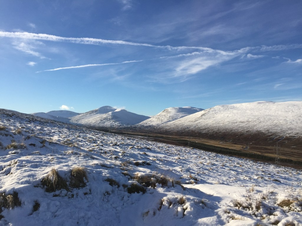 A View of the West Drumochter Hills