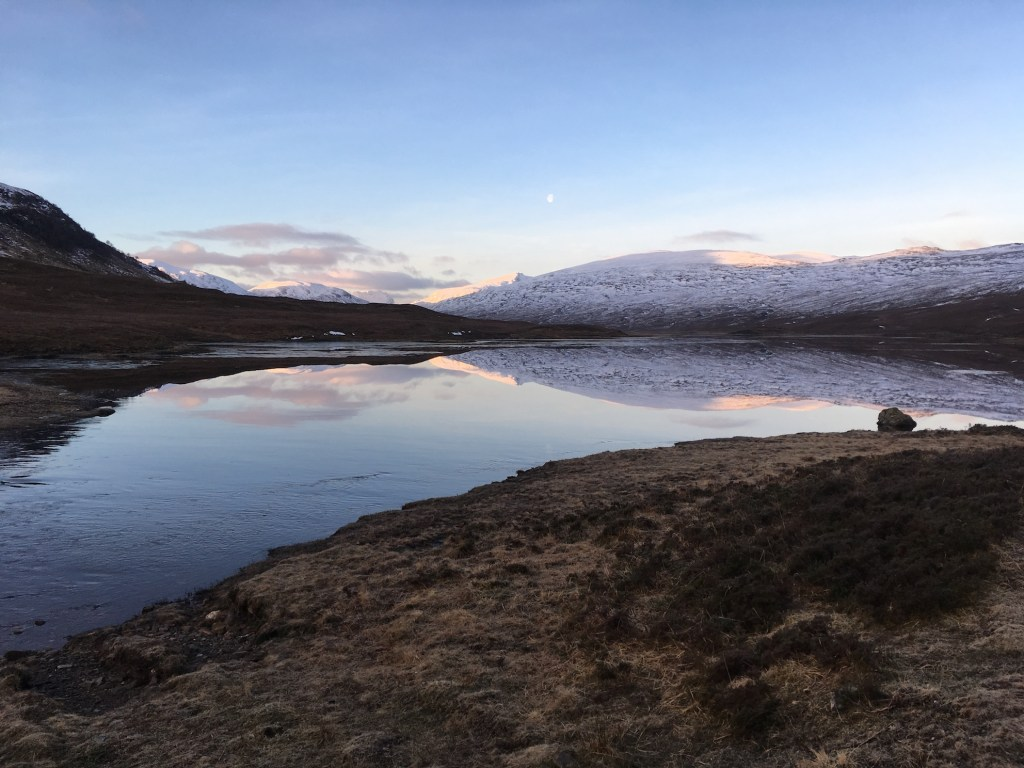 Loch a' Bhaoin on a winter's morning