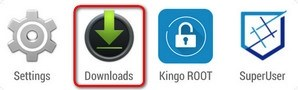 Find KingoRoot.apk in Downloads