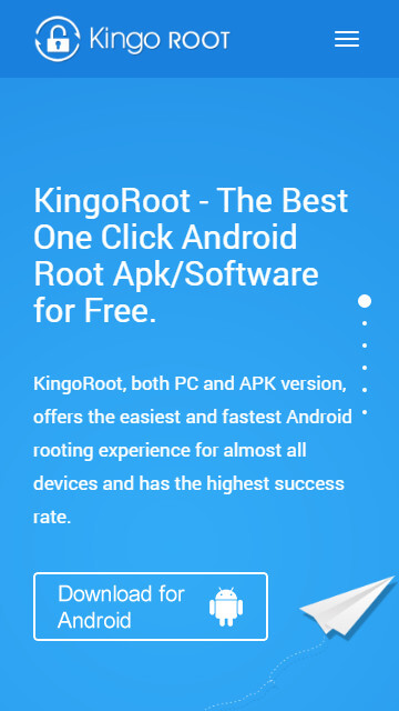 Root Android 5.0/5.1 lollipop device with KingoRoot apk, without connecting to PC
