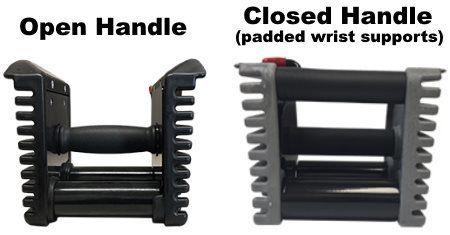 Diseño de mango abierto vs mango cerrado