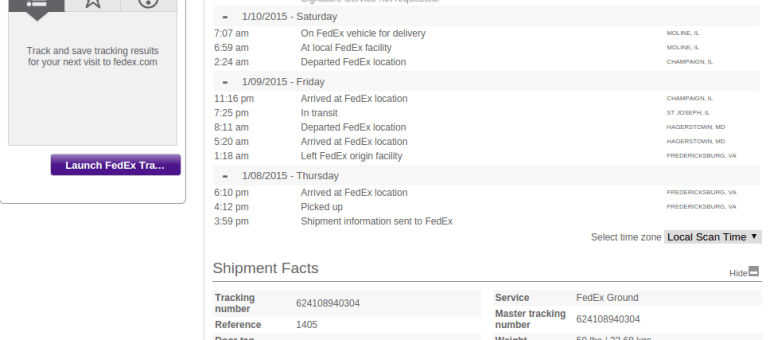 Fedex-tracking-api
