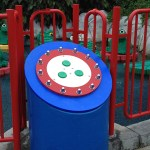 Amusement Park Fixture Made with King ColorBoard® KPG Blue and KPG Red